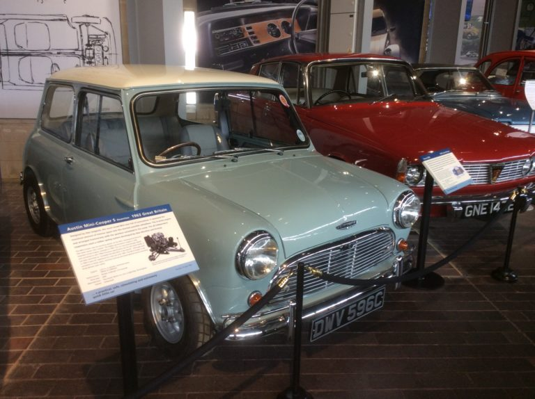 Display of cars at the National Motor Museum