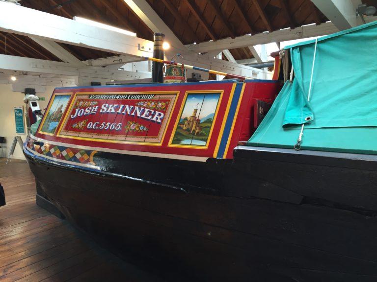 Narrowboat at the National Waterways Museum